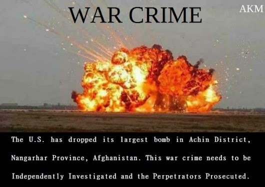 The U.S. has dropped its largest bomb in Achin District, Nangarhar Province,Afghanistan | Veterans Today