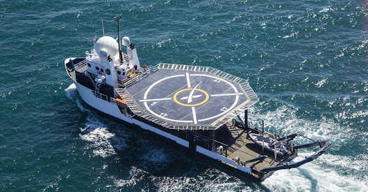 SpaceX's helipad-equipped boat will bring astronauts safely home