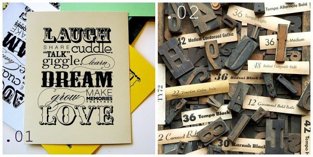 Smitten with typography