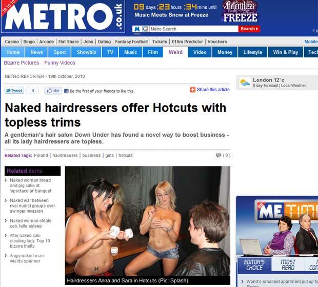 Cabeleireiras de Topless