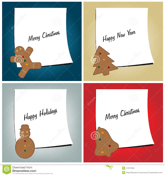 Christmas Cards Stock Vector - Image: 47291686