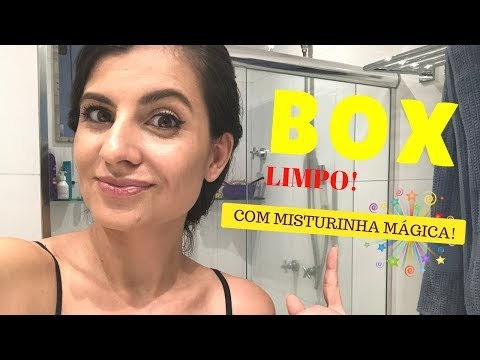 Vidro de box de banheiro limpíssimo com misturinha INÉDITA (nova) na internet!