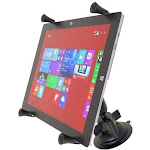 """RAM Universal X-Grip Cradle for 12"""" Tablets with Suction Cup Mount Kit by PilotMall.com"""