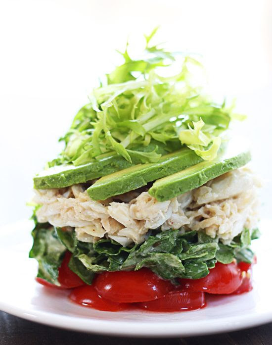 Stacked Cobb Salad // so pretty & fresh #styling #party