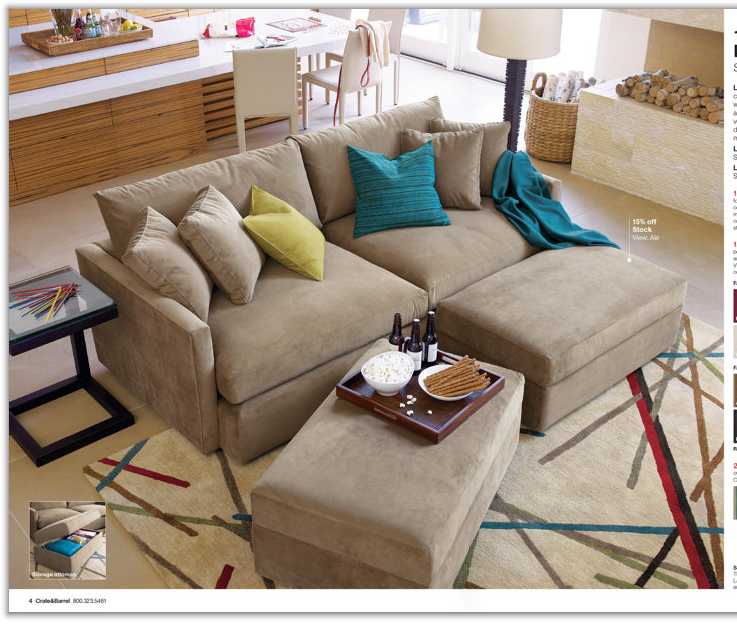 My Mod Style Lounge Sofa From Crate Amp Barrel