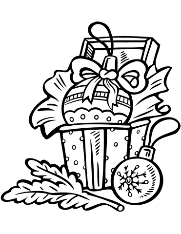 Dibujo De Adornos Navideños Para Colorear Dibujos Para Colorear