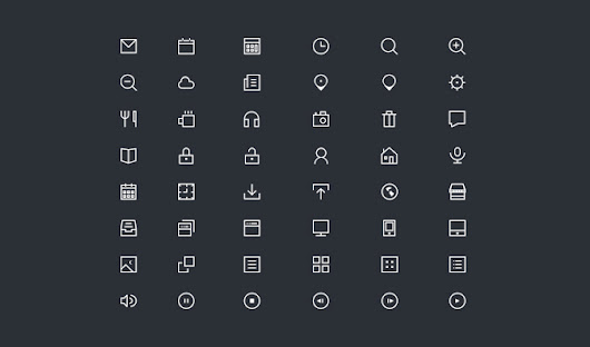 48 Thin Icons - 365psd