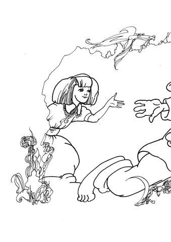 Disegno Di Alice Nel Paese Delle Meraviglie Da Colorare Disegni Da