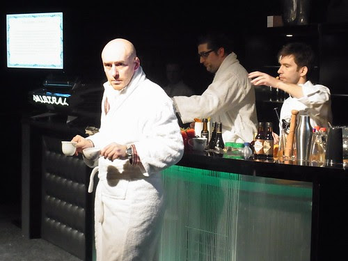 The Lost Art of Bathrobe Drinking ... on stage