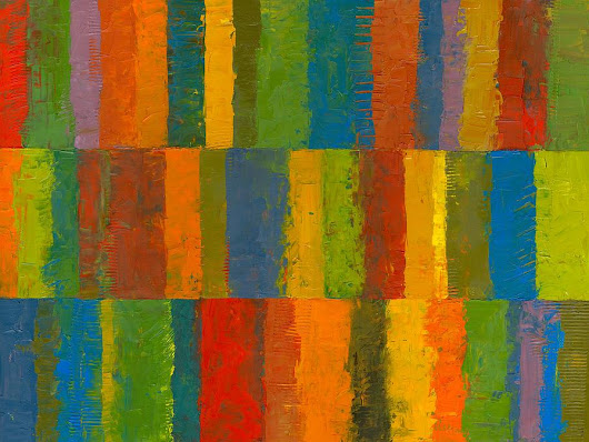 Color Collage With Stripes by Michelle Calkins