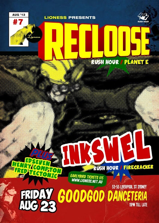 EVENT: Lioness Presents Recloose & Inkswel at Goodgod Small Club | DEEP HOUSE, TECHNO, DISCO