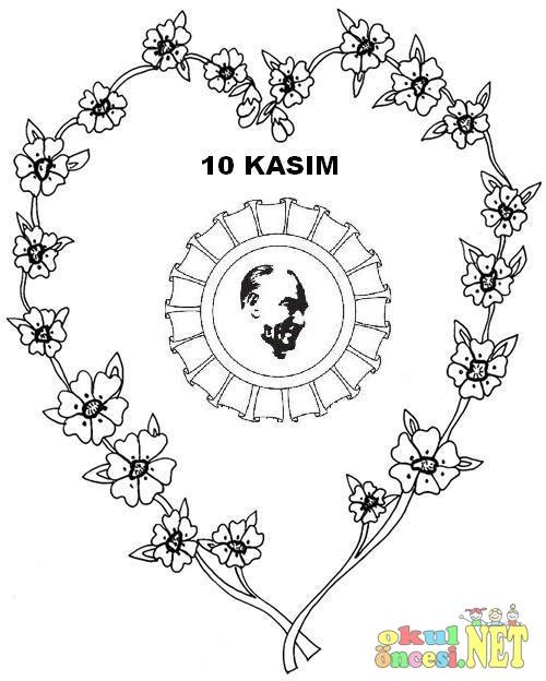 10 Kasım Için Atatürk Boyama Sayfası Komik Fipixde