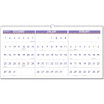 At-A-Glance Horizontal-Format Three-Month Reference Wall Calendar 23 1/2 x 12 2020 PM1428