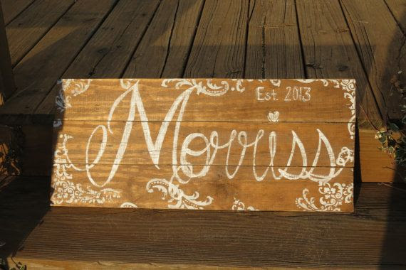 Sign Wooden  Name name Sign SignForEveryOccasion,  $50 Last Rustic rustic by  sign Family