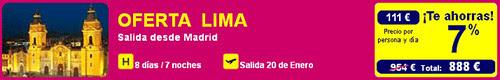 OFERTA VUELO + HOTEL LIMA