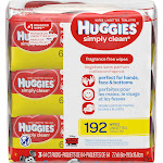 Huggies Simply Clean Wipes, Fragrance Free, Disney Mickey Mouse & Friends - 3 - 64 ct packs [192 wipes]