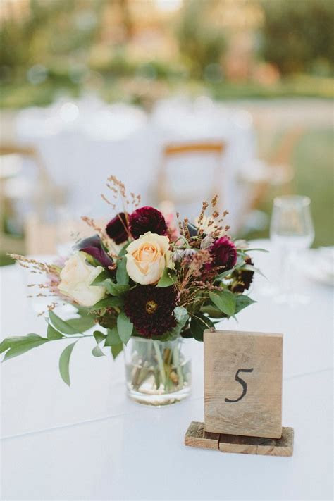 A Modern Chic Outdoor Ranch Wedding in Burgundy and Navy
