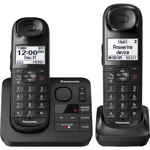 Panasonic KX-TGL432B Expandable Cordless Phone with Handset - Black