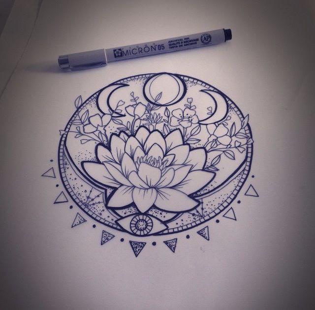 Mandala Lotus Flower Tattoos Design