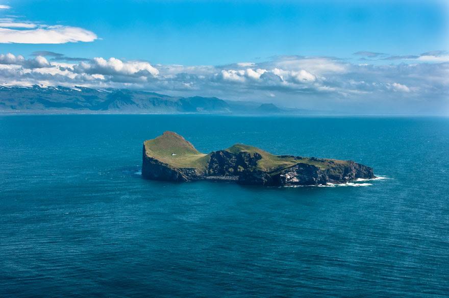 The Solitairy House Of Elliðaey Island, Iceland