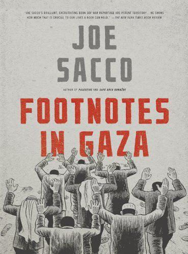 """Le livre """"Footnotes in Gaza"""" de Joe Sacco"""