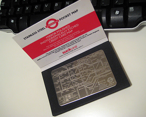 London Underground map pocket mirror