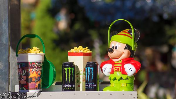 Disneyland Resort,  Disney California Adventure, Buena Vista Street, Christmas Time, Popcorn, Bucket