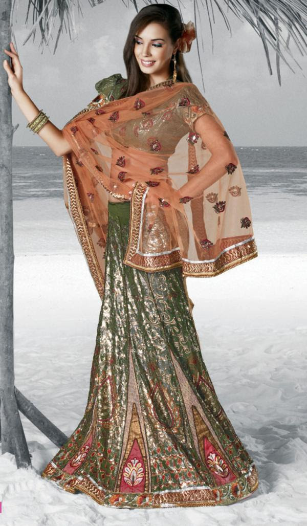 latest fashions updated festive wear lehenga saree