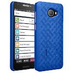Jitterbug Smart2 Case, Nakedcellphone [Cobalt Blue] Slim Ribbed Hard Cover [with Kickstand] for GreatCall Jitterbug Smart2 Phone (5049SJBS2, Smart-2)