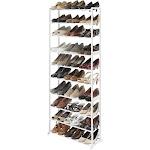 Whitmor 30-Pairs Capacity Shoe Tower Rack, White