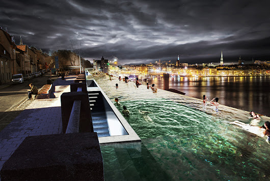 stockholm infinity pool proposed by UMA along the baltic sea