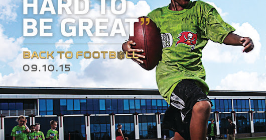 """You have to work hard to be great,"" he said when asked what it takes to be a football player. At a youth camp hosted by Vincent Jackson (Tampa Bay… 