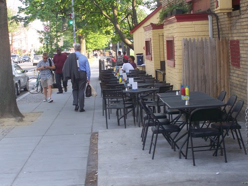 Restaurant patio, 11th Street NW, Columbia Heights