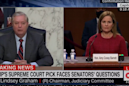 Lindsey Graham used Barrett's hearing to complain about his Senate opponent's massive fundraising hauls