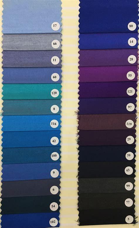 Textile Color Chart Of Silk, Linen, Satin Ribbon, Hemp