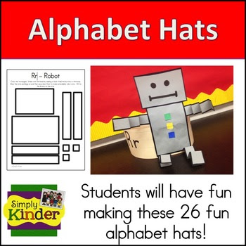 alphabet hats, letter craft hats
