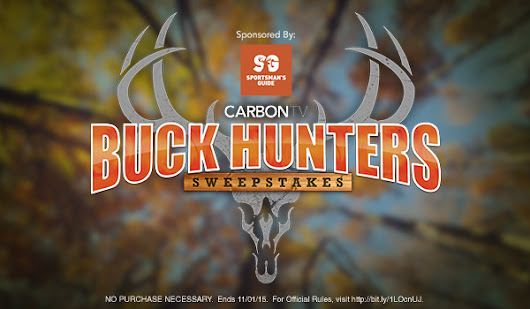 Enter CarbonTV Buck Hunters Sweepstakes