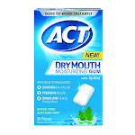 Act Dry Mouth Moisturizing Gum With Xylitol, Soothing Mint, 20 Ea