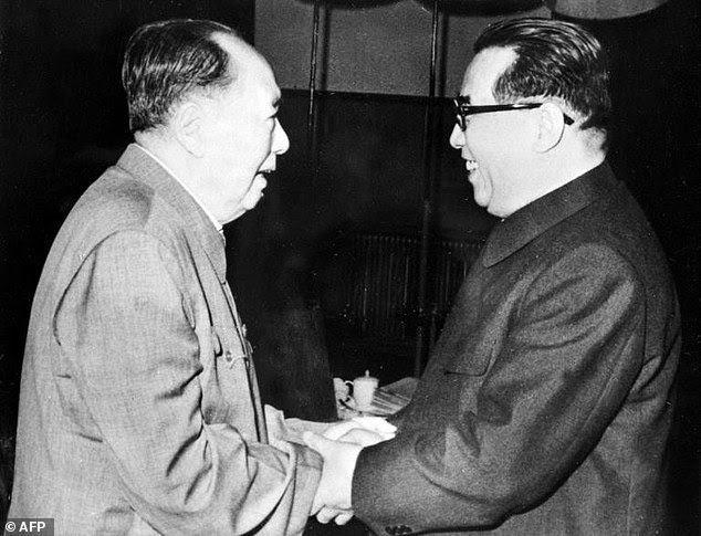 Then-Chinese leader Mao Tse Tung and Kim Il Sung, the founder of North Korea, led countries whose relationship Mao said was as 'close as lips and teeth' but analysts question whether their 1961 defence pact would hold in the event of another war