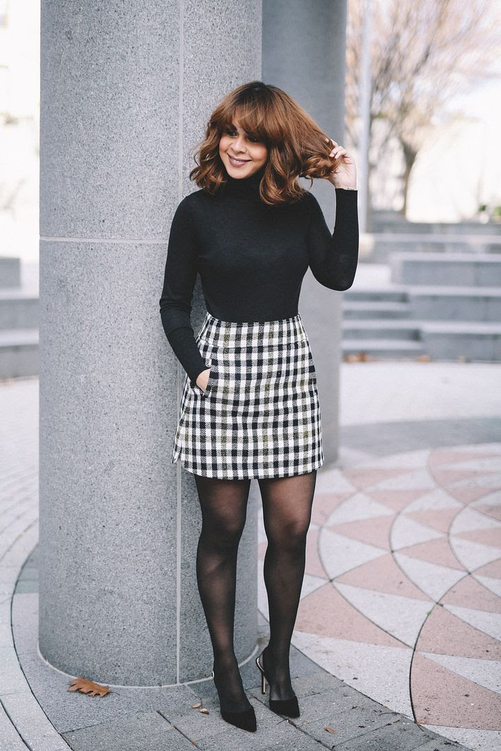 plaid skirt  delmy