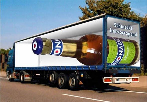 truck ad designs 06 in Funny 3D Truck Ad Designs