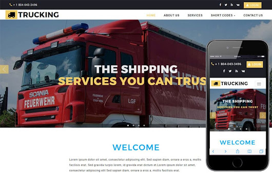 Trucking Transport Category Bootstrap Responsive Web Template