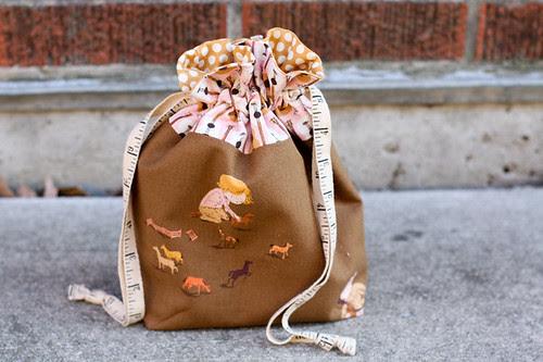 Lined Drawstring Bag by jenib320