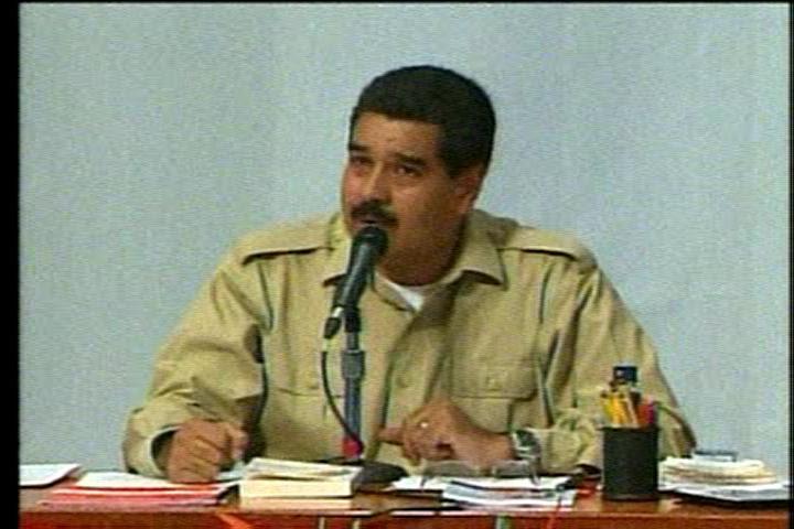 El presidente de la República Nicolás Maduro