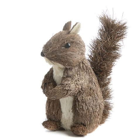 Large Brown Sisal Squirrel   Decorative Accents