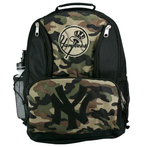 new york yankees youth camo backpack for. Black Bedroom Furniture Sets. Home Design Ideas