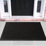Ottomanson Rubber Doormat Entrance Rug Indoor/Outdoor Door Shoe Scraper Entryway
