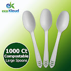 Eco Kloud Compostable Spoon, 1,000-count