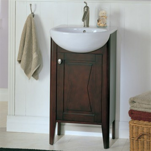 The Fairmont Tuxedo Vanity is a great shallow depth vanity for a small bathroom.