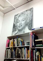 marilyn bookshelf